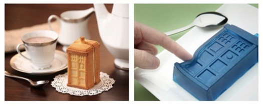 Make squishy treats or cake-y treats with the Tardis Gelatin/Cake 2-Piece Mold Set