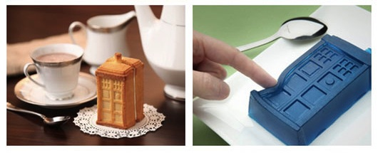 Make squishy treats or cake-y treats with the Tardis Gelatin/Cake 2-Piece Mold Set
