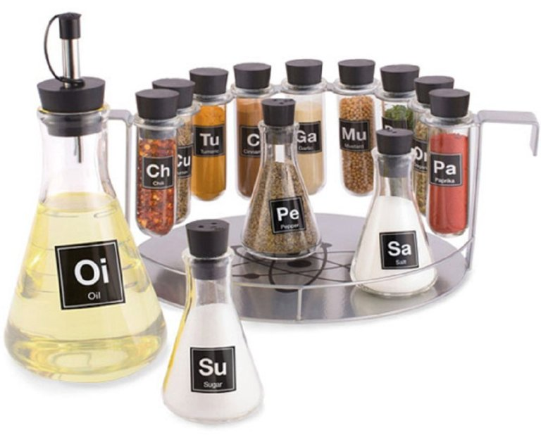 Chemist's Spice Rack - geeky food ideas